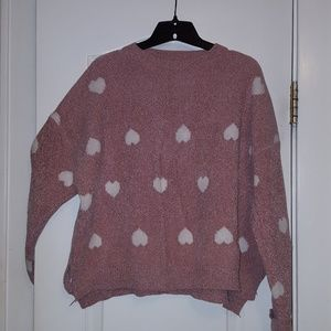 Ivory Heart Sweater